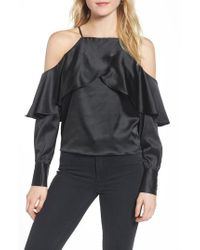 BISHOP AND YOUNG - Black Bishop + Young Mia Cold Shoulder Blouse - Lyst