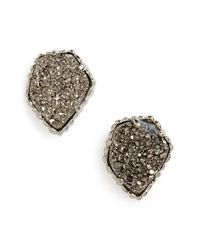 Kendra Scott   Metallic 'tessa' Stone Stud Earrings   Lyst