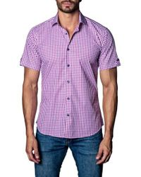 Jared Lang - Purple Check Sport Shirt for Men - Lyst