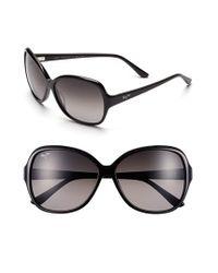 Maui Jim | Maile 60mm Polarizedplus Sunglasses - Gloss Black | Lyst