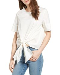 Bishop + Young White Front Tie Blouse