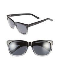 Ted Baker | Black 56mm Polarized Retro Sunglasses for Men | Lyst