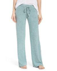 Make + Model   Blue Best Boyfriend Brushed Hacci Lounge Pants   Lyst