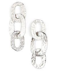 Oscar de la Renta - Metallic Link Drop Earrings - Lyst