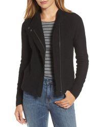 Caslon - Black Caslon Knit Sweater Coat - Lyst