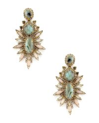 Elizabeth Cole - Metallic Carmella Stud Earrings - Lyst