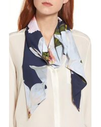 Ted Baker - Blue Chatsworth Bloom Skinny Scarf - Lyst