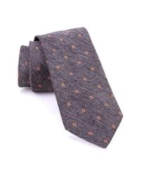 Ted Baker - Gray Spaced Square Melange Silk Tie for Men - Lyst