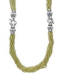 Lagos - Metallic Caviar Icon Bead Convertible Bracelet & Necklace - Lyst
