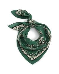 Madewell - Green Silk Bandana - Lyst