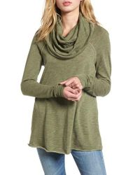 Free People - Green 'Beach Cocoon' Cowl Neck Pullover - Lyst