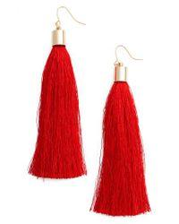 Adia Kibur - Red Tassel Earrings - Lyst