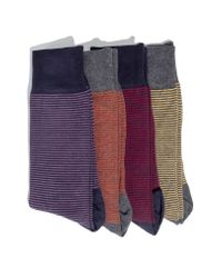 Hook + Albert - 4-pack Socks, Red for Men - Lyst