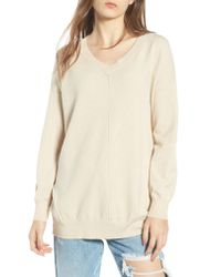 Dreamers By Debut - Natural Exposed Seam Sweater - Lyst