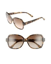 Juicy Couture - Natural Shades Of 57mm Square Sunglasses - Khaki Milk Havanna - Lyst