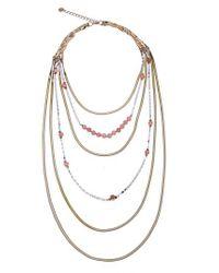 Nakamol - Metallic Layered Snake Chain Necklace - Lyst