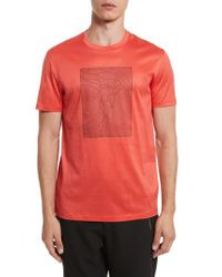 Versace - Red Barcode Medusa Graphic T-shirt for Men - Lyst