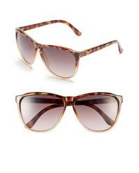 dc6e4b81a70 Lyst - Electric  encelia  66mm Retro Sunglasses in Brown