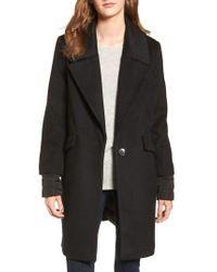 Calvin Klein - Black Wool & Down Reefer Coat - Lyst