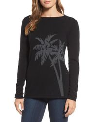 Tommy Bahama - Black Island Palm Intarsia Cashmere Pullover - Lyst