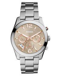 Fossil - Multicolor 'perfect Boyfriend' Multifunction Bracelet Watch - Lyst
