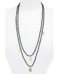 Panacea - Multicolor Layer Bead Necklace - Lyst
