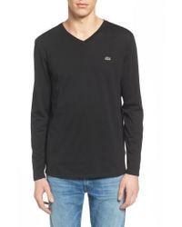Lacoste - Black Long Sleeve T-shirt for Men - Lyst