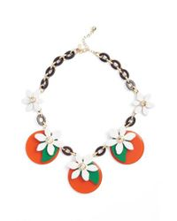 Kate Spade - Multicolor Citrus Crush Statement Necklace - Lyst