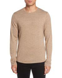 Calibrate | Brown Merino Blend Crewneck Sweater for Men | Lyst