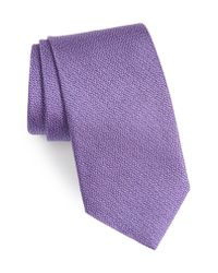 David Donahue - Purple Solid Silk Tie for Men - Lyst