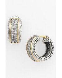 Konstantino - Metallic 'diamond Classics' Small Hoop Earrings - Lyst