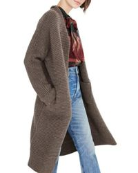 Madewell - Brown Fulton Sweater Coat - Lyst