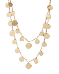 Panacea - Metallic Double Strand Necklace - Lyst