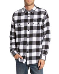 Obey - Black Trent Check Woven Shirt for Men - Lyst