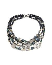 Alexis Bittar | Blue Elements Multistrand Beaded Necklace | Lyst