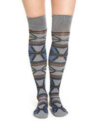 Pendleton | Blue 'rio Canyon' Over The Knee Socks | Lyst