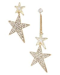 Cara - Metallic Crystal Star Statement Earrings - Lyst