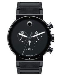 Movado - Black 'sapphire Synergy' Chronograph Bracelet Watch for Men - Lyst