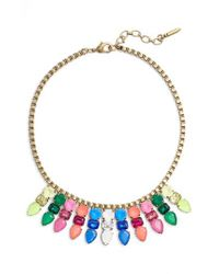Loren Hope - Metallic Jewel Bib Necklace - Lyst
