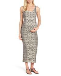 Tees by Tina - Black Snake Print Maternity Maxi Dress - Lyst