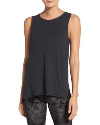 Onzie - Black Open Back Tank - Lyst
