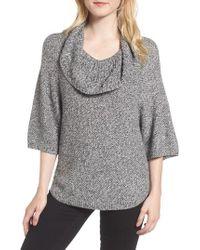 Splendid   Gray Cowl Neck Sweater   Lyst