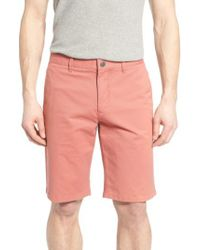Bonobos - Orange Washed Stretch Chino 11 Inch Shorts for Men - Lyst