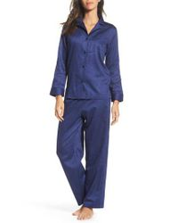 Lauren by Ralph Lauren - Blue Cotton Pajamas - Lyst