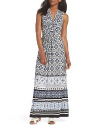 59127793a58 Eliza J. Women s Knot Detail Jersey Maxi Dress