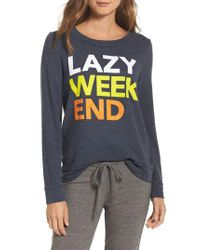 Chaser - Multicolor Lazy Weekend Love Knit Sweatshirt - Lyst
