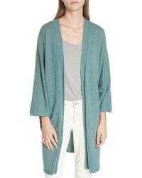 Eileen Fisher - Blue Long Cashmere Cardigan - Lyst