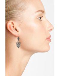 Konstantino - Metallic 'silver Classics' Shield Drop Earrings - Lyst