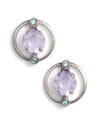 Sorrelli - Purple Tiger Lily Crystal Earrings - Lyst