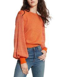 Free People   Orange Let It Shine Sweater   Lyst